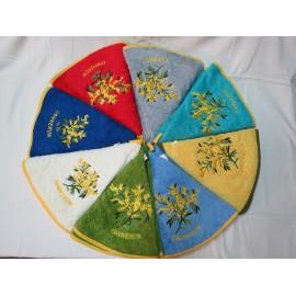 Torchons ronds dans les différentes couleurs